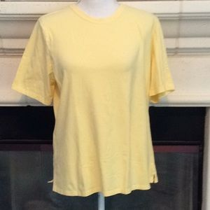 Erin London stretchy top in sunny yellow NWOT💕